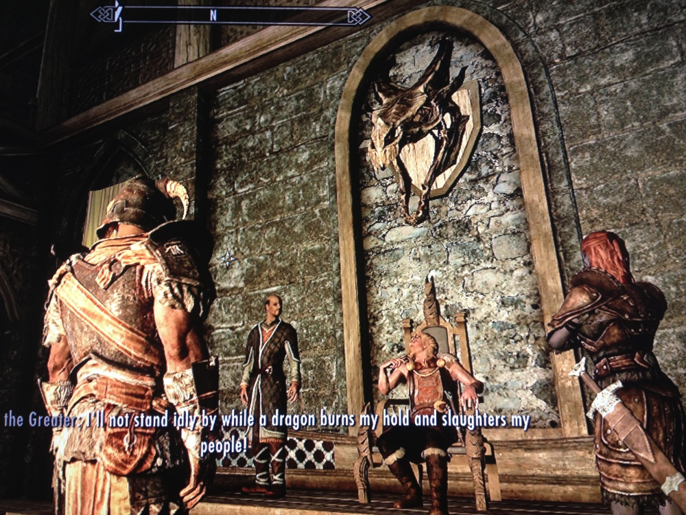 Meeting with the Jarl of Whiterun. That whole business with the Imperials and then the Dragon at Helgen took him a bit off-track, but Winterhold was always on the horizon, beckoning.