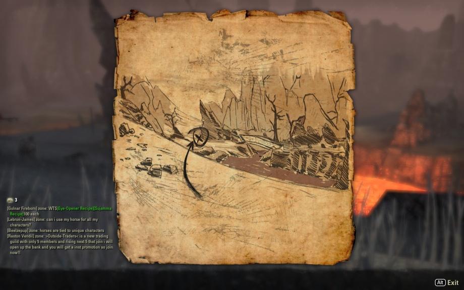 Getting warmer: Stonefalls treasure map VI | pies & heavy armor