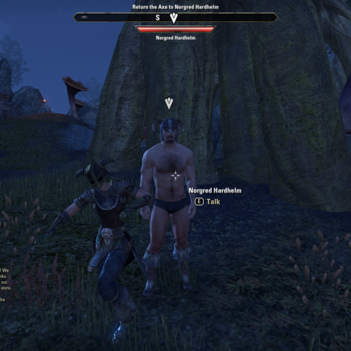 Doing a little jig and a reel with a naked Nord.