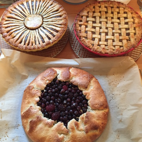 All three pies, baked and ready!