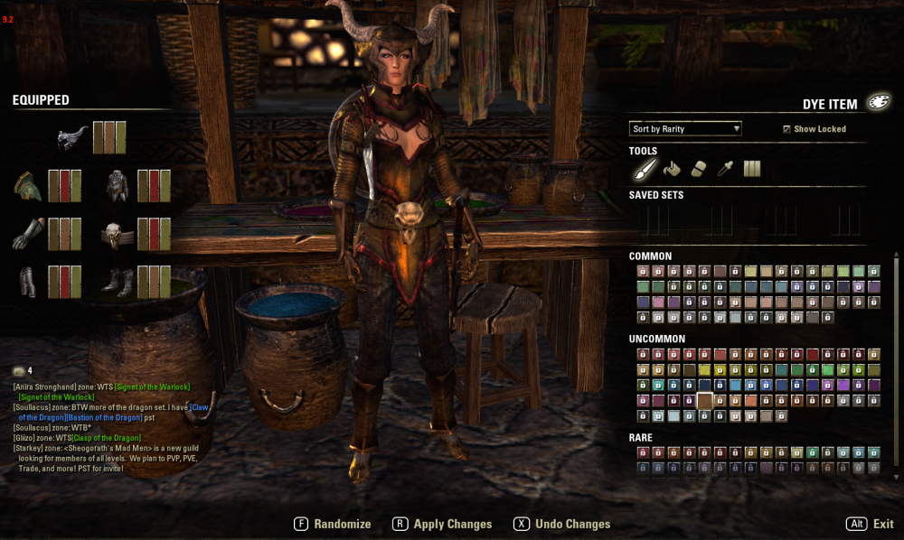 Thessaly level 16 in dye station