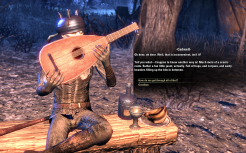 Now, I don't ever rememebr him hiding behind his lute before, but maybe I just missed it?