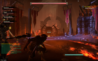 So there's a fiery arena thing, Tamriel Thunderdome-style