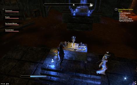 Dark and creepy altars with skulls. Totally de rigeur.