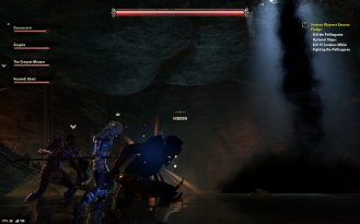 Creeptastic start to the final boss fight with the column of black smoke descending from on high